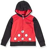 Amazon Essentials Girls' Toddler Disney Star Wars Marvel Princess Fleece Zip-Up Hoodie Sweatshirts, Minnie Color Block, 4T