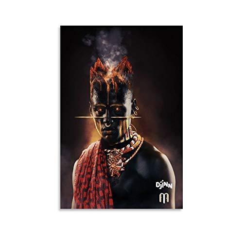 LMHQ Music Theme Poster African Djinn Art Canvas Art Poster and Wall Art...