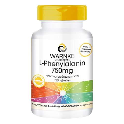 L-Fenilalanina 750mg – Vegana – Aminoácido – 120 comprimidos