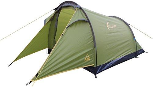 Best Camp - Tenda Woodford Tunnel, Colore: Verde/Verde Scuro, 290 x 140 x 110/95 cm