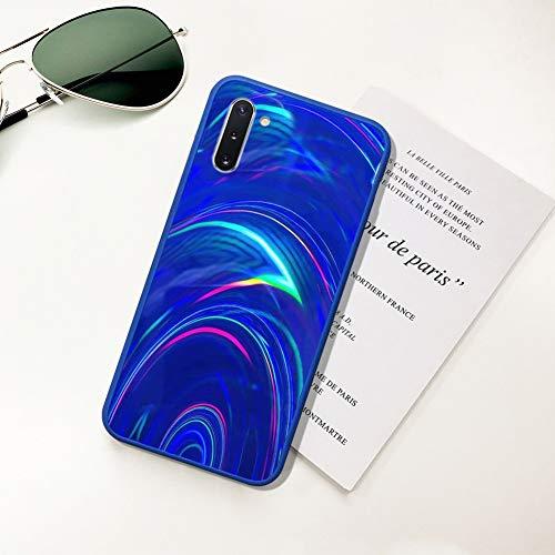 Ysimee Hülle kompatibel mit Samsung Galaxy Note 10 Handyhülle,[Bunte Serie][Fallschutz, rutschfest], Weiche Silikon Schutzhülle Bumper Case Schutz Stoßfeste Protective Hülle Cover - Blau