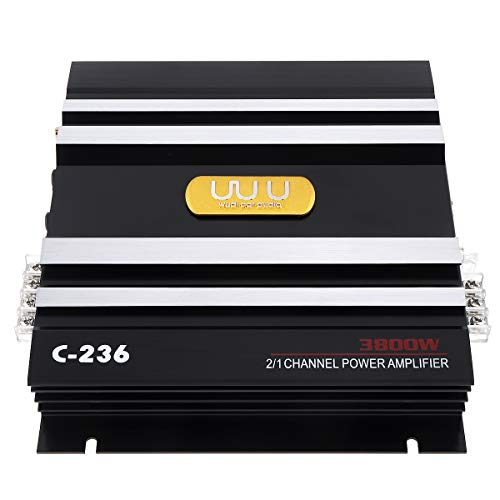 Review 3800W 2 Channel Car Audio Stereo Amplifier,Universal 12V Bass Subwoofer Power AMP Aluminum Al...