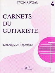Partition : Carnets du Guitariste - Guitare - Volume 4