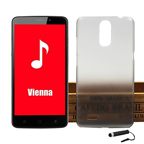 Ycloud Tasche für Ulefone Vienna Hülle, Handy Backcover Kunststoff-Hard Shell Hülle Handyhülle mit stoßfeste Schutzhülle Smartphone Grau