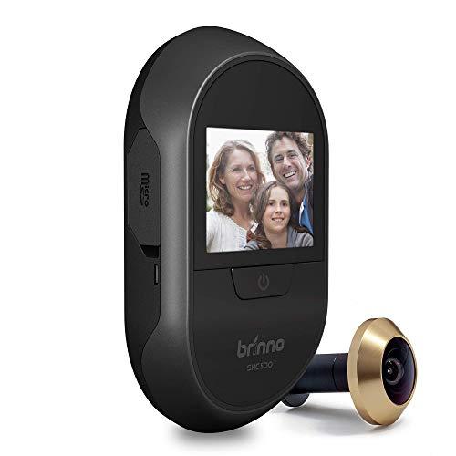 Brinno Peephole Camera Home SHC500 Security Long-Lasting Battery DIY Install LCD Screen Black - 12mm...