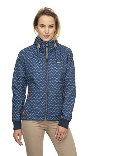 Ragwear Damen Übergangsjacke Jacke Apoli Zig Zag blau XS S M L XL (XXL)