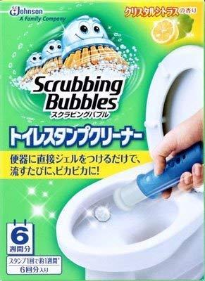 ジョンソン スクラビングバブル トイレスタンプクリーナー クリスタルシトラスの香り 6回分入り×12点セット (トイレ用洗浄剤)