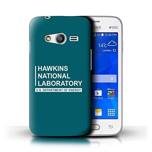 Stuff4® Phone Case/Cover/Skin/SGS-CC/Hawkins National Laboratory Collection Samsung Galaxy Trend 2 Lite/G318 blauwgroen