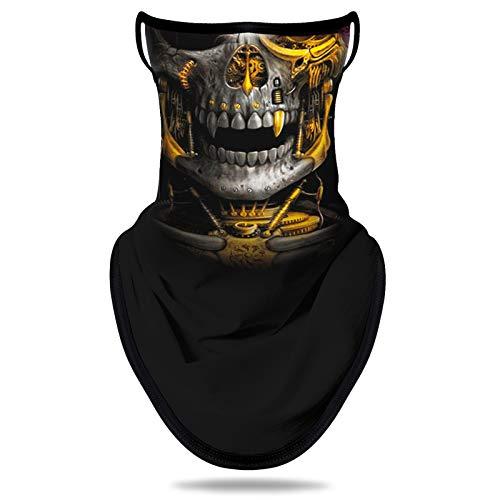 NTBOKW Bandana Face Mask with Ear Loops Neck Gaiter Mask for Men Women (Skull G0112)