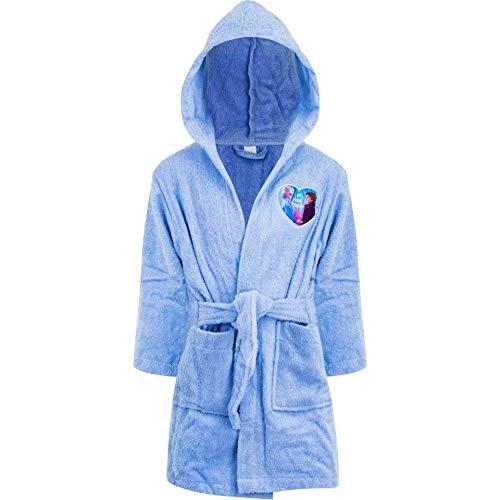NEU Albornoz con capucha de algodón para niña, diseño de Frozen azul claro 3-4 Años