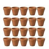 BESTONZON - Set di 20 mini vasi in argilla, terracotta e ceramica, per interni, esterni, piante grasse, artigianato, bomboniere di matrimonio (4,5 x 4,1 cm)