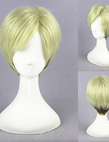 Fashion wigstyle Shingeki No kyojin-erwin Smith color mezclado cosplay peluca