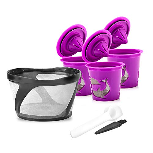 8-12 Cup Reusable K Duo Filter Mesh Ground Basket Coffee Filter Come with Reusable K cup Compaitable for Keurig K-Duo Essentials and K-Duo Brewers Only (K Duo filter+2 Reusable cup)