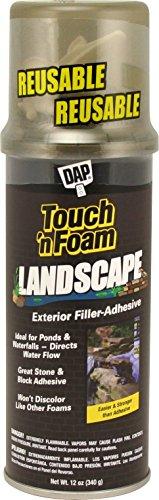 Touch n Foam 4001141212 Black Landscaping Polyurethane Foam Sealant, 12 oz
