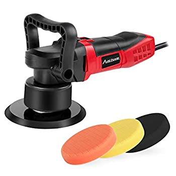 Avid Power Buffer Polisher 6-inch Dual Action Polisher Random Orbital Car Buffer Polisher Waxer with Variable Speed 3 Foam Pads for Car Polishing and Waxing AEP127