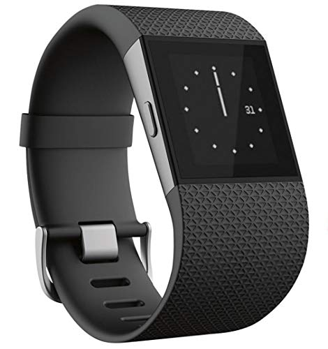 Fitbit_Surge Surge Smart Fitness Superwatch, Large (6.3-7.8 in) (US Version)-Black,with Built-in GPS, Multisport functionality, and Automatic, Continuous Heart Rate