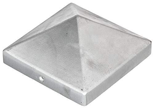 GAH-Alberts 217242 Pfostenkappe für Holzpfosten   hohe Form   Aluminiumguss   blank   120 x 120 mm