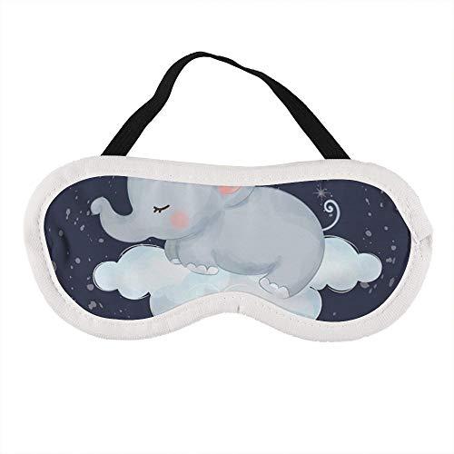 Tragbare Augenmaske für Männer und Frauen, Baby-Elefant, Schlafmaske für Reisen, Nickerchen, für die beste Schlafumgebung.
