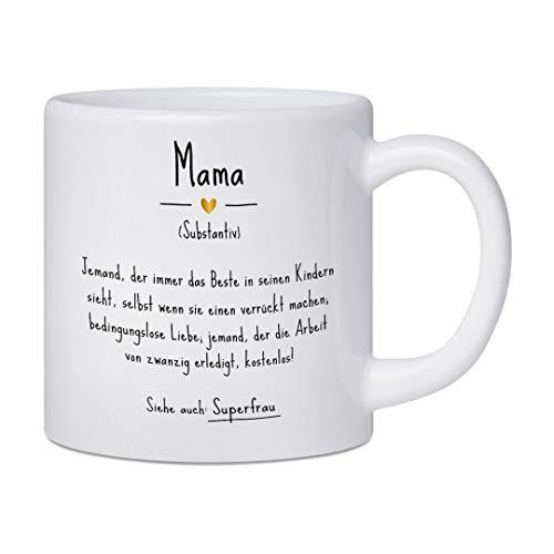 artboxONE Kleiner Kinderbecher Mama | Definition (DE) von Man ON The Milky Way - Typografie