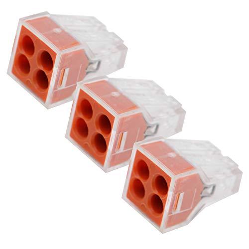 Fuego‑retardante Pct Rápido Conectar Terminal, 19.4x13.3x12.9mm 24a 250v Aislado Terminal Barrera Ordenador personal, Cobre