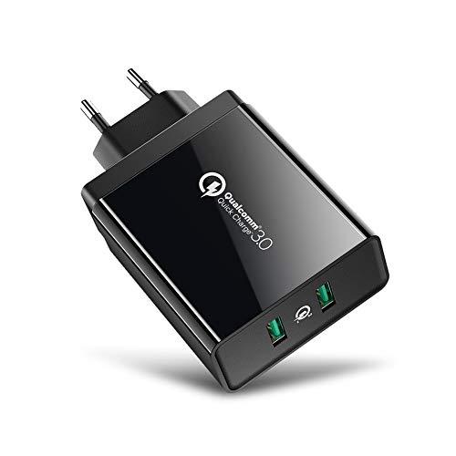 UGREEN USB Ladegerät 36W Quick Charger Dual QC 3.0 USB Schnellladegerät für Samsung Galaxy S10e S10 S8 A50 A40 A30 A20e M20, Tab S5e, Xiaomi Redmi Note 7 Mi A2, Huawei Mate20 Lite, Moto G7 Power usw
