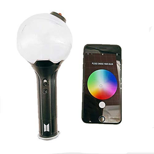 XYQC BTS Light Stick Map of The Soul 7 Special Edition, Army Bomb Lightstick Ver 4, Bluetooth Connection APP to Adjust The Light Color