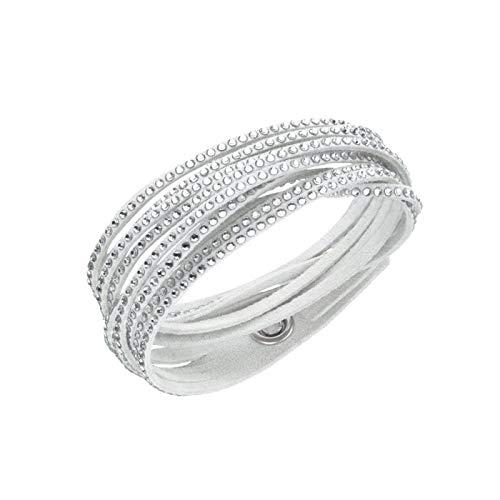 Damen-Armband Swarovski Slake Beige Kristalle Silber 5392326
