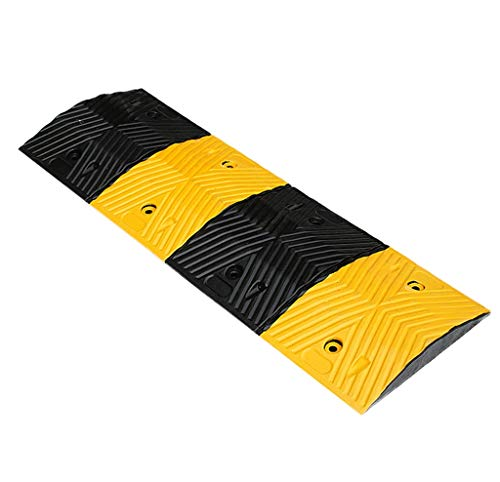 Draussen Anti-Rutsch-Pad Verzögerung, Convenience Store / Supermarkt Tür Rampen Autowerkstatt Rampen Hotels Barrierefreies Rampen Bordsteinkanten ( Color : Black+Yellow , Size : 100*35*5cm )