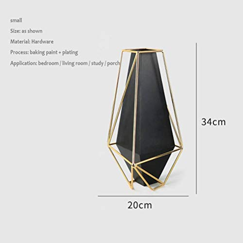 Thumby Home Decoratie Ambachten Desktop Ornament Creatieve Metalen Plating Amerikaanse Vaas Hotel Club Model Kamer Slaapkamer Vensterbank Eettafel Strijkijzer Nordic Vaas Trompet