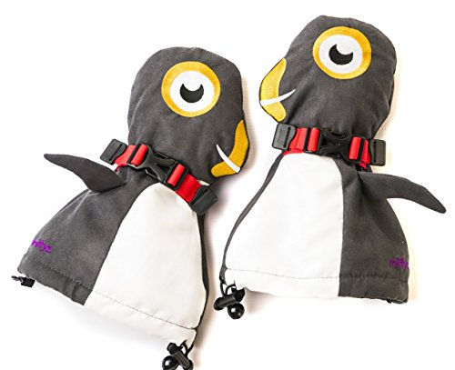 Veyo Kids - Flipper Mittyz - Waterproof Kids Mittens | Toddler Gloves | Easy on, Stay on, | Perfect for Snow Skiing, Sledding, and Winter Play (Small 6 Months - 2 Years)