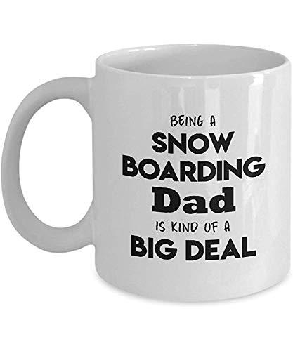 Ceramic Mok snowboard papa keramiek uitleg gepersonaliseerd sport geïnspireerd – papa van snowboard is een soort apare-reat Present White 330 ml koffiemok koffiekop geschenk persoonlijk