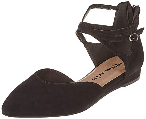 Tamaris Damen 1-1-24202-22 Slipper, Schwarz (Black 1), 38 EU