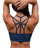 YIANNA Sujetador Deportivo Mujer con Relleno Top Yoga Running Alto Impacto...