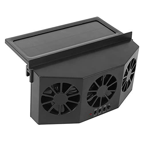 LIKJ Ventilador de Coche, Ventilador de refrigeración de Coche con Ventilador Solar de Tres Ventiladores para Eliminar Mascotas para olores de Cigarrillos