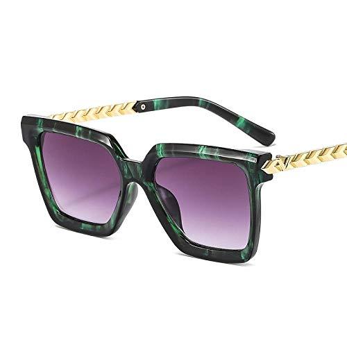 chuanglanja Gafas De Sol Mujer Senderismo Shield Gafas De Sol Mujer Hombre Pc Color Gradient Lens Marco De Metal Black Sun Glasses-Color-