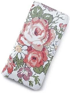 iPhone XRケース 手帳型 リバティ ローズエレン (コーラルピンク) SHOKO MIYAMOTO おしゃれ かわいい マグネット無しでカード安全 スマホケース アイフォンケース Liberty…