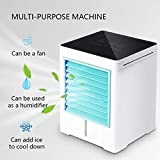 Alisy Personal Air Cooler, Cooler Pure Air Air Conditioner, USB Charging Full Screen Feel Smart Mini Portable Air Conditioning Fan Home Air Cooler