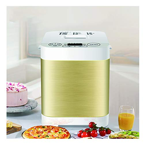 Breadmaker Machines, Automatic Digital Bread Maker, Homemade Bread Machine 18 Programmes Gluten-Free Whole Wheat Bread Maker Machine Stainless Steel Breadmaker Breakfast Toast