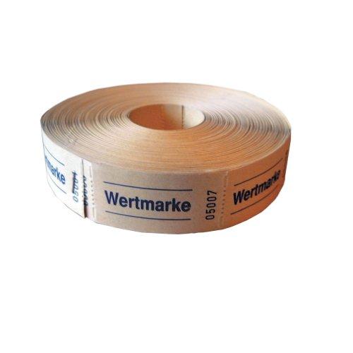 Herlitz 791830 Neutrale Wertmarken, 5x1000 Abrisse, farblich sortiert