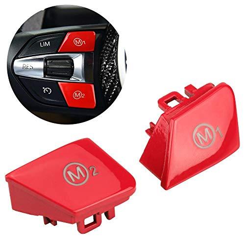 Fydun Lenkrad Tempomat Schalt knopf Kit 1 Paar Auto Lenkrad M1 M2 Modus Schaltknopf für M3 M-4 F80 F82 F83 (Rot)