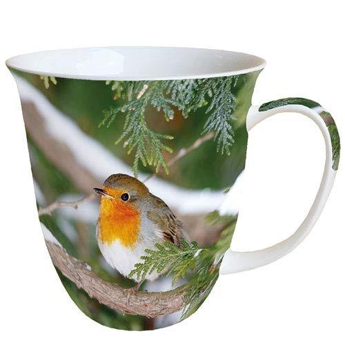 Ambiente Taza de porcelana fina, 0,4 L, diseño de Robin in Tree