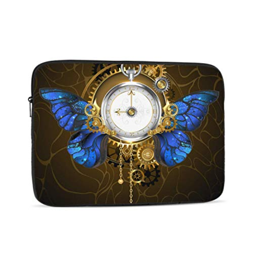2018 Macbook Pro Case Clock with Blossoms and Butterfly Laptop Case Mac Multi-Color & Size Choices10/12/13/15/17 Inch Computer Tablet Briefcase Carrying Bag