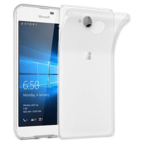Cadorabo Custodia per Nokia Lumia 650 in TRANSPARENTE - Morbida Cover Protettiva Sottile di Silicone TPU con Bordo Protezione - Ultra Slim Case Antiurto Gel Back Bumper Guscio