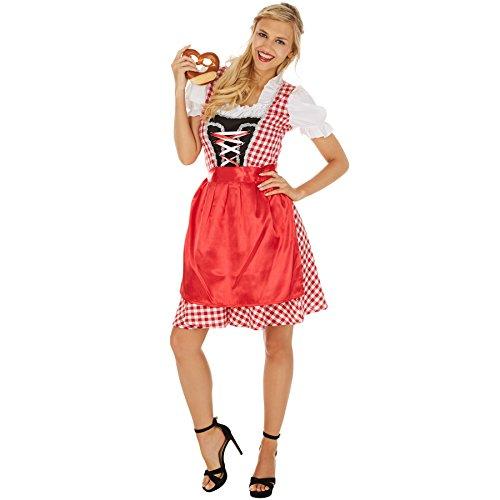 TecTake dressforfun Frauenkostüm Dirndl Wiesn MADL | Schönes Dirndl | Angenähte Bluse | Für Bayern-, Berge- und Almmottos ideal (XXL | Nr. 301069)