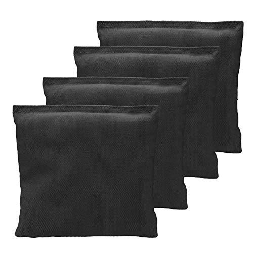 Rikey 4er Pack Cornhole Bag, Wetterfester Standard Cornhole Sitzsack Poratble Corn Hole Game Stoffbeutel Für Erwachsene Und Kinder, Schwarz