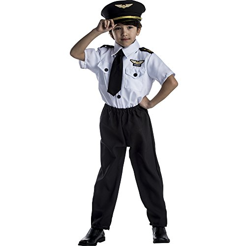 Dress Up America 325-S Deluxe Kinder Pilot Kostüm Set, unisex-child, Größe 4-6 Jahre (Taille: 71-76 Höhe: 99-114 cm)