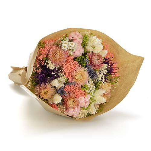 Bouquet Fantasy (Rosa) Sanremo fiori essiccati dalla Riviera dei Fiori - Realizzato a mano