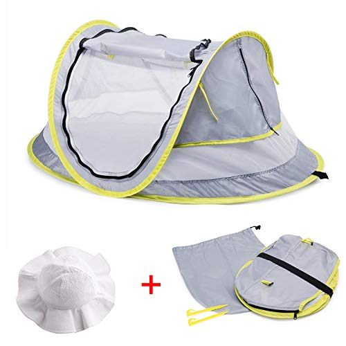 MASCARRY Baby Beach Tent, with A Brim Sun Protection Hat,...