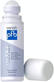 PFB Vanish Ultra with Chromabright & Shitake Mushroom, Triple Action Dark Spot Remover, Ingrown Hair & Razor Bump Stopper, Roll-On Skin Care Treatment, 93g – New Formula