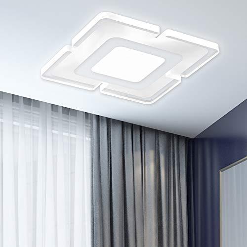 ALLOMN Luz de Techo LED, Dormitorio Sala de Estar Luz de Techo Lámpara Colgante Ultrafina de Forma Cuadrada Luz de Dormitorio Gran Regalo para un Niño Amigo (Blanco Frio, Forma Cuadrada)